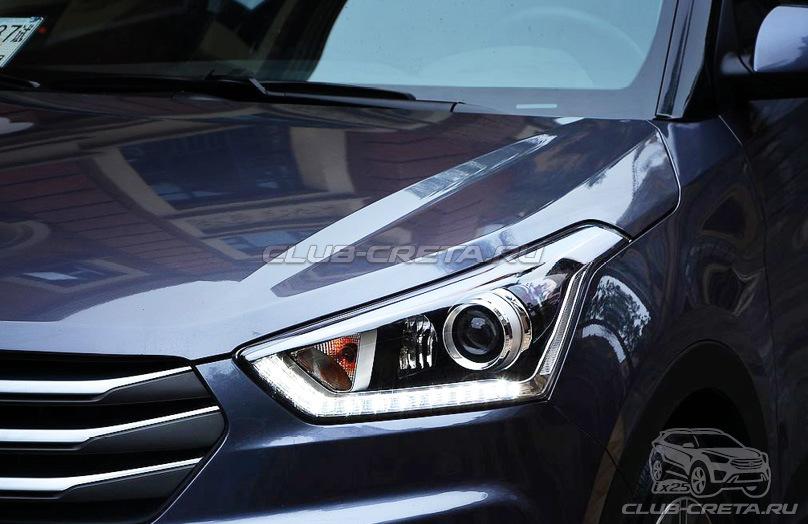 Передние фары Hyundai Creta