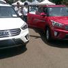 Белый и красный Hyundai Creta (ix25)
